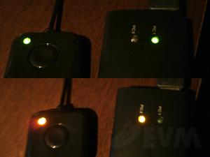 エレコムパソコン切替器_LEDランプ部分